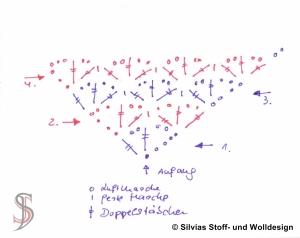 Häkelschrift Dreieckstuch